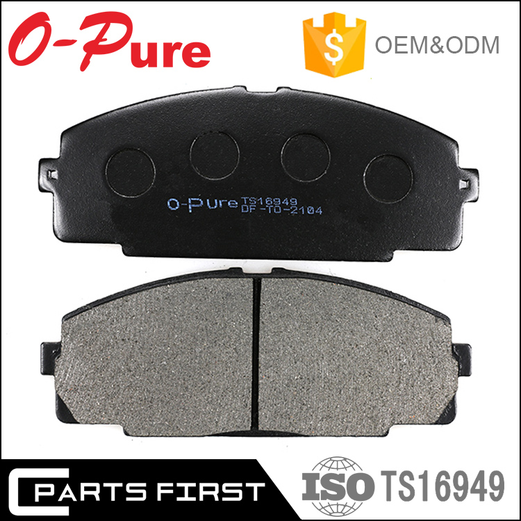 Break pad Asbestos free car spare parts MK D2104 Front Brake pad for Toyota Hiace 04465-25040