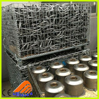 china heavy duty wire mesh metal pallet box,steel storage cages rack,large animal cage