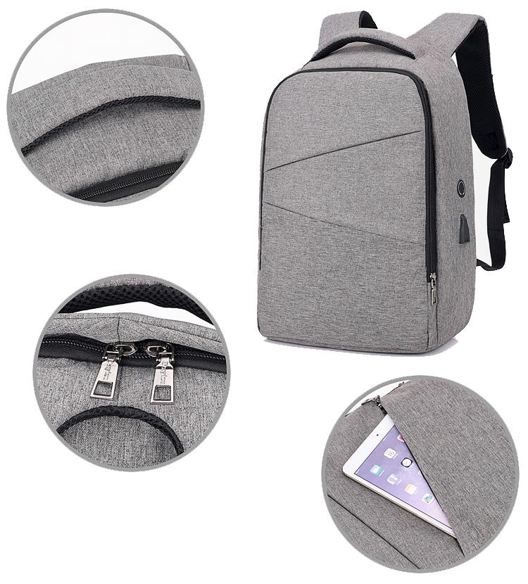 2018 горячий стиль современной пользовательские мужчины полиэстер компьютер, ноутбук рюкзаки с портом usb зарядка