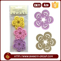 custom 6pcs 5mm cute colorful felt easter sticker with self-adhesive sticker on the back side
