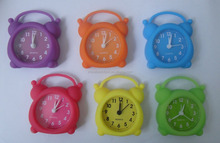 mini alarm clock with silicone material for travel