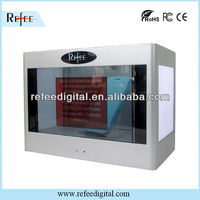 2013 hot sell brand interactive 22 inch transparent screen LCD advertising Display luxury boxes for Jewelry or phone