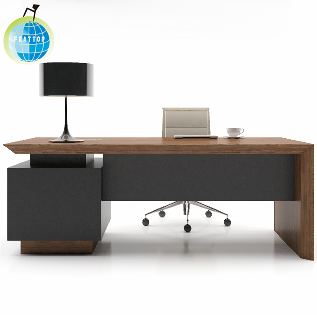 Simple Design Wooden Table and Chair High Quality Managers Ergonomic Office Computer Desk