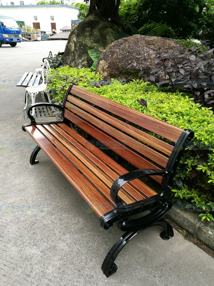 OEM cast iron legs outdoor bench, Community leisure park bench