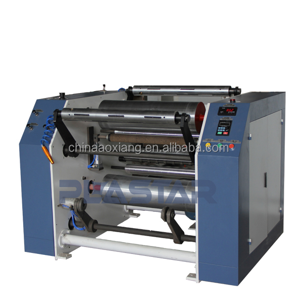 Full automatic high speed plastic stretch film slitting rewinder machine
