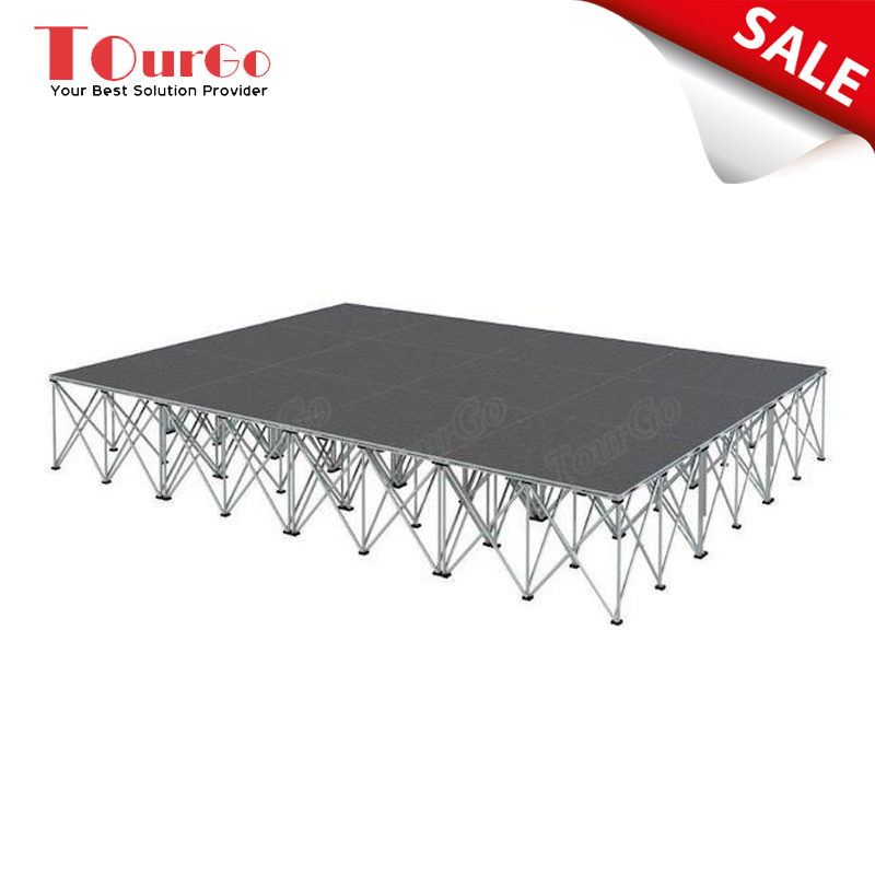 Newest Portable Stage Design Carpet Stage Platform 4ft x 4ft for Fashion Stage / School Stage / DJ Stage