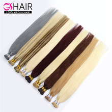 Remy fusion mix color straight i tip hair 27/613 color hair extension