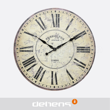 DEHENG 16 Antique Old Style MDF Wall Clock