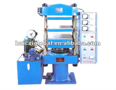 High Quality Pole Design Fine Steel Made 25 Ton Plate Rubber Vulcanizing Press - Rubber Band Making Machine
