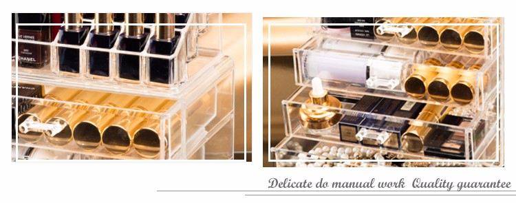 HOT sale clear 5 tier storage display box acrylic makeup organizer
