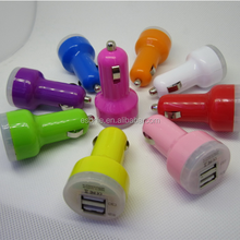 High Quality Dual usb car charger 2.1A 1A