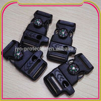 AC0104 plastic buckle side release insert buckle with compass