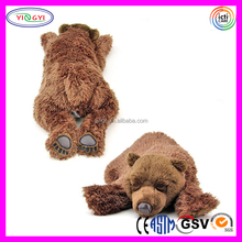 D913 Lying Animal Brown Bear Stuffed Toy Plush Sleeping Bear