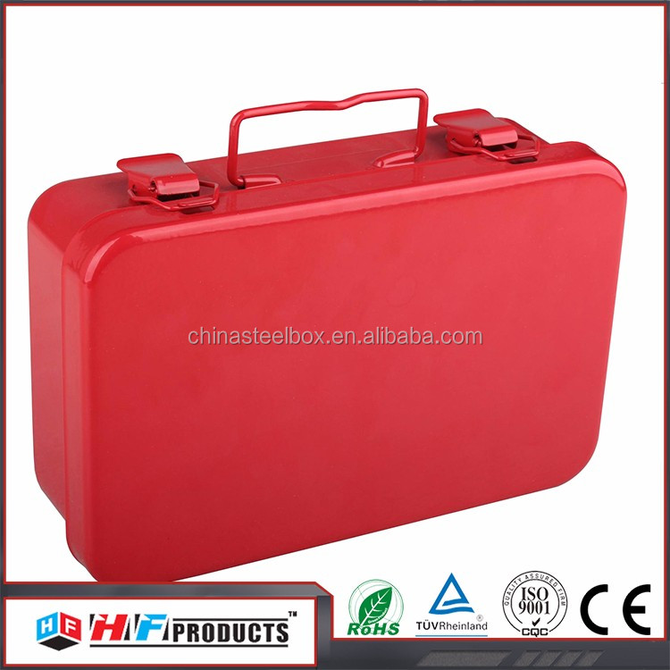 wall mounted first aid kit box , first aid case with button lock , alibaba first aid box