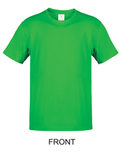 100% ring spun cotton short sleeves men kelly green t shirt with custom <strong>logo</strong>