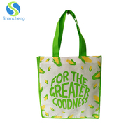 Hot Sale Reusable Customized Laminated Grocery Promotional Cheap Logo Non Woven Tote Shopping Bags