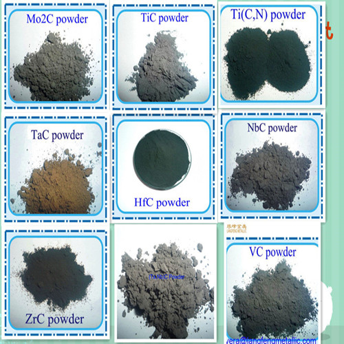 carbide powder VC TiC Cr3C2 ZrC TaC NbC Mo2C HfC TiCN powder sized 200 X 325 mesh 325 mesh and finer carbide alloy