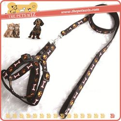 Braided nylon rope dog leash ,CC023 woven label logo dog harness with custom for sale