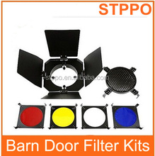 98mm Photography Barndoor Light Barn Door With Honey Comb Color Filters
