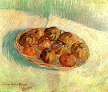 Oil painting Still Life with Basket of Apples by Van Gogh