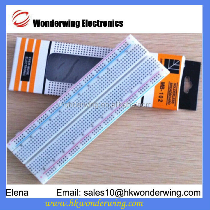 Experimental Solderless Breadboard 830 tie-point 2 Power lane 200PTS 1Standard double-strip,630 PTS size:5.6*16.5*0.85cm