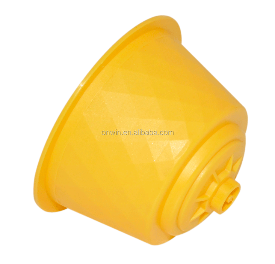 Yellow color Dolce Gusto coffee capsules