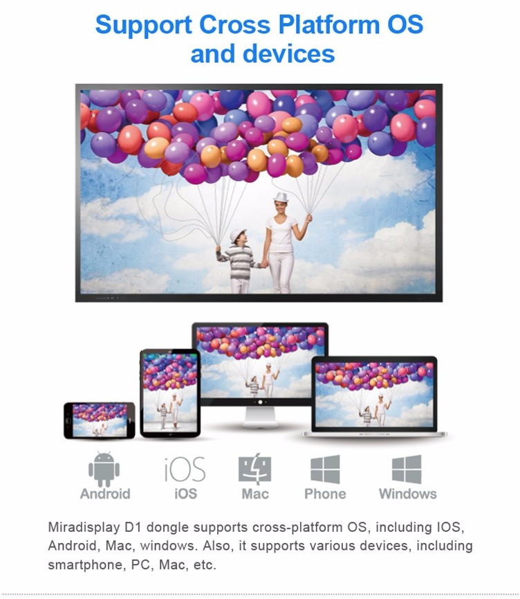 SYTA U50 TV Stick miradisplay AM8252 Miracast DLNA Airplay wifi display Dongle For iOS 9.1 Android