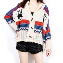 Wholesale Women Scraf Handmade Crochet Cashmere Knit Poncho Sweater