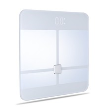 180/0.1kg Smart ITO glass platform bluetooth4.0 body fat bathroom scale for human body