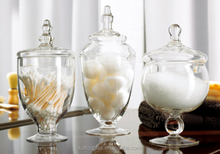 beautiful Wedding Centerpiece, Glass Apothecary Jars, Candy Storage box