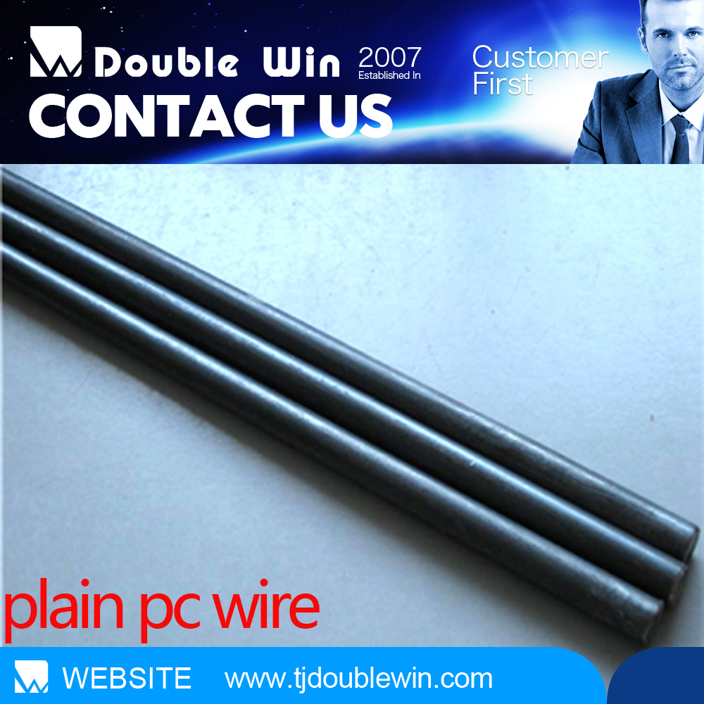 12mm spiral rib PC Wire, concrete hollow floor used pc wire export to Dubai market