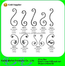 cheap decorative wrought iron C scroll for Fence & Trellis & Gates