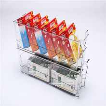 clear plastic PET drawer refrigerator fridge organizer storage