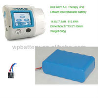 Lithium ion recharable battery for KCI infoV.A.C Therapy Unit