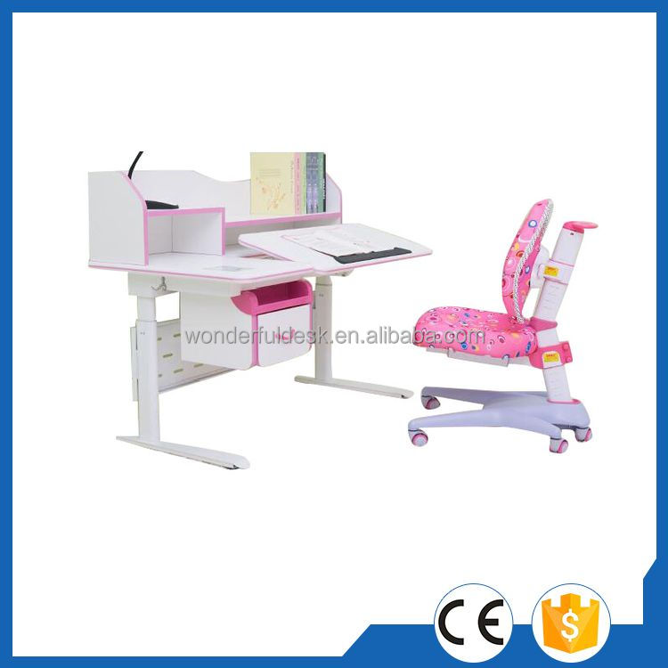 Top quality exclusive adjustable kids study table for students