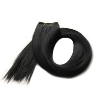 6A 2015 New Arrival Premium Quality Various Styles 1B Color 100% Human Remy Virgin Hair Extension Weft