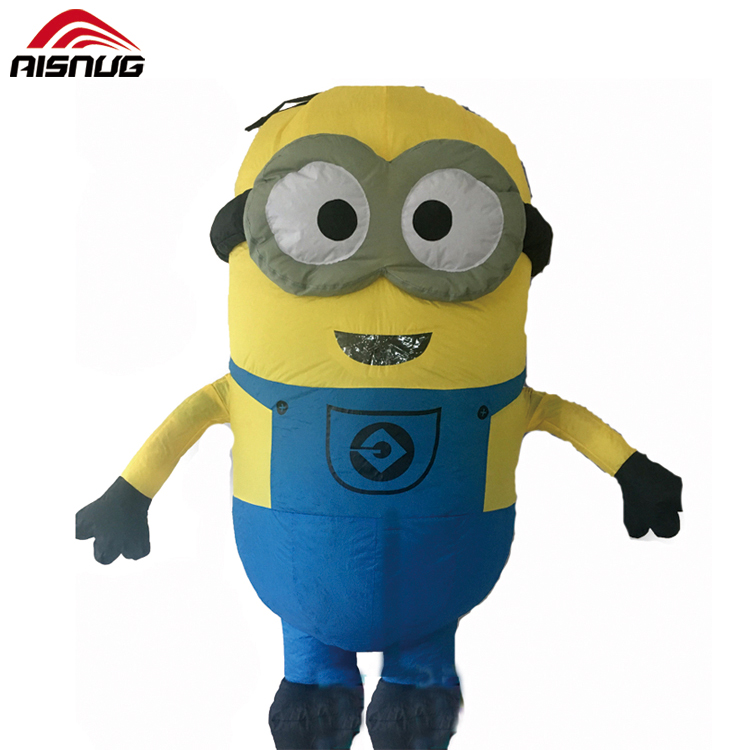 christmas inflatable double eyes minion costume high quality air blow minion dress up costume buy inflatable minion costumeminion halloween costume - Minion Christmas Inflatable
