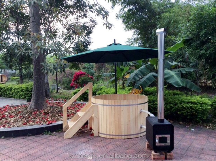 China factory price best quality family use wooden hot tub with external heater