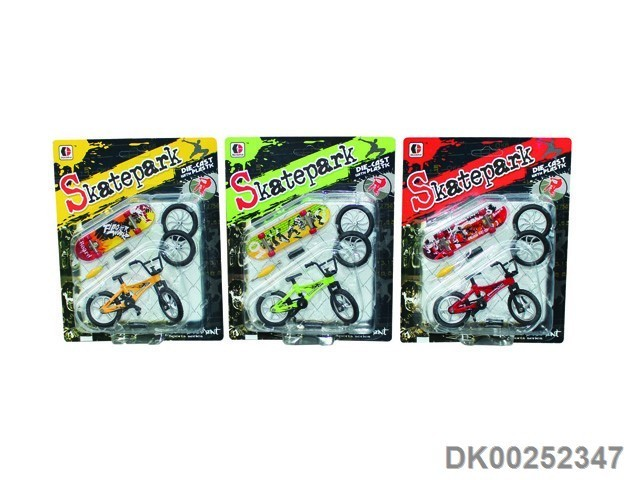 Hot Sale Finger Skateboard With Bicycle Toys Blister Card Fun Toys For Kids With EN71 ASTM Certificate