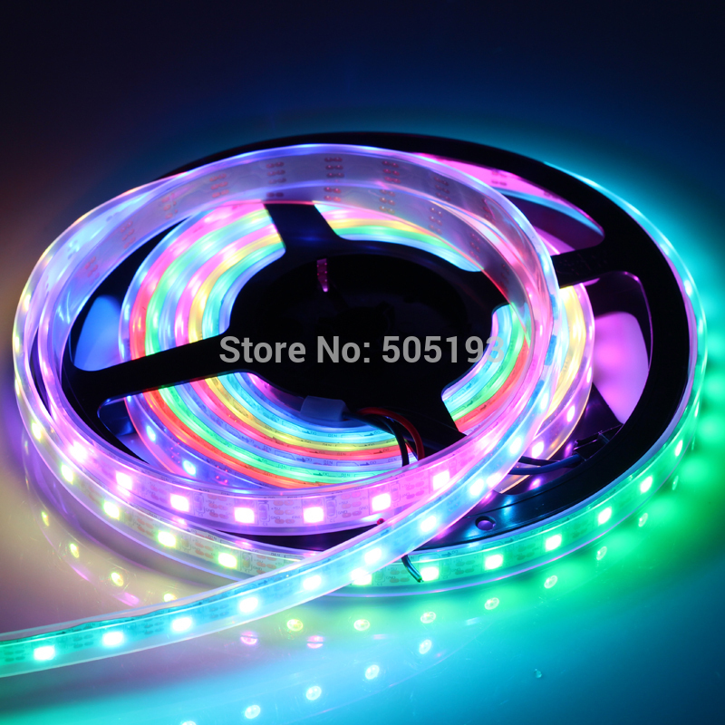 DC5V WS2812B RGB LED Strip SMD 5050 LED Strip Ribbon Christmas Decoration 60LED/m*4m 240LED White PCB Silicone Tube Waterproof