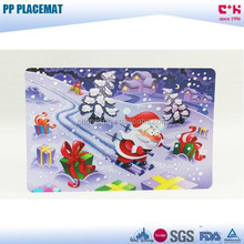 Food Grade Eco-friendly kids Christmas PP Plastic placemat
