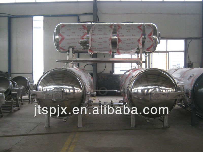 hot water circulating immersion food horizontal autoclave for sterilizer