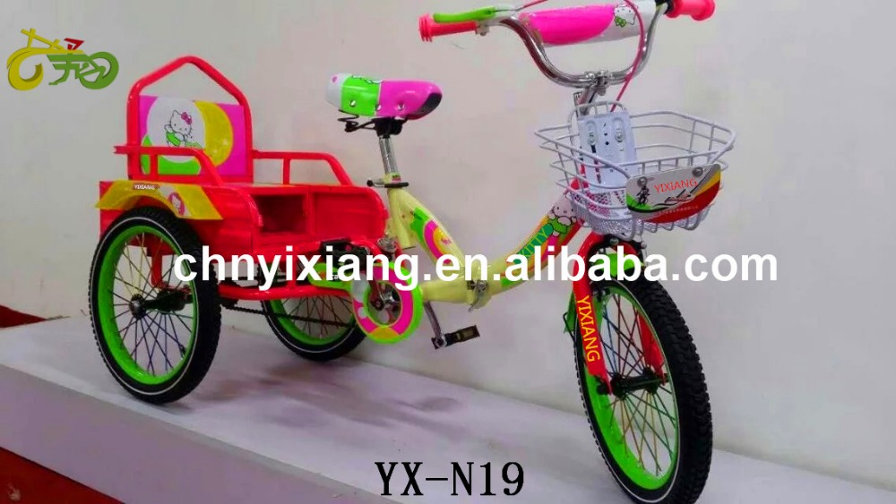 Hello kitty foldable tricycle ,cargo bikes for human