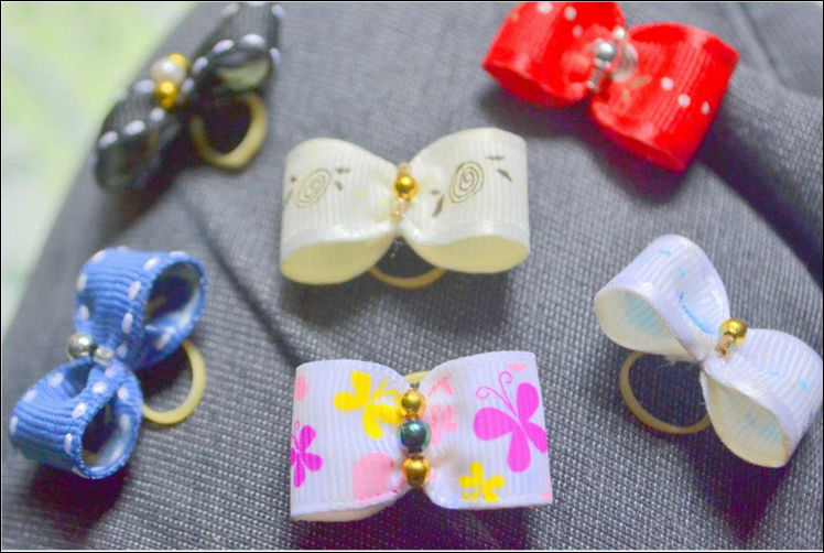 Mixed Assorted Pet Dog Bows Ribbons Hair Accessory Ornament Supplier from Philippines- Wholesale
