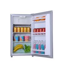 national 83L 12V solar power table top cold drink hotel mini fridge refrigerator with a freezer compartment