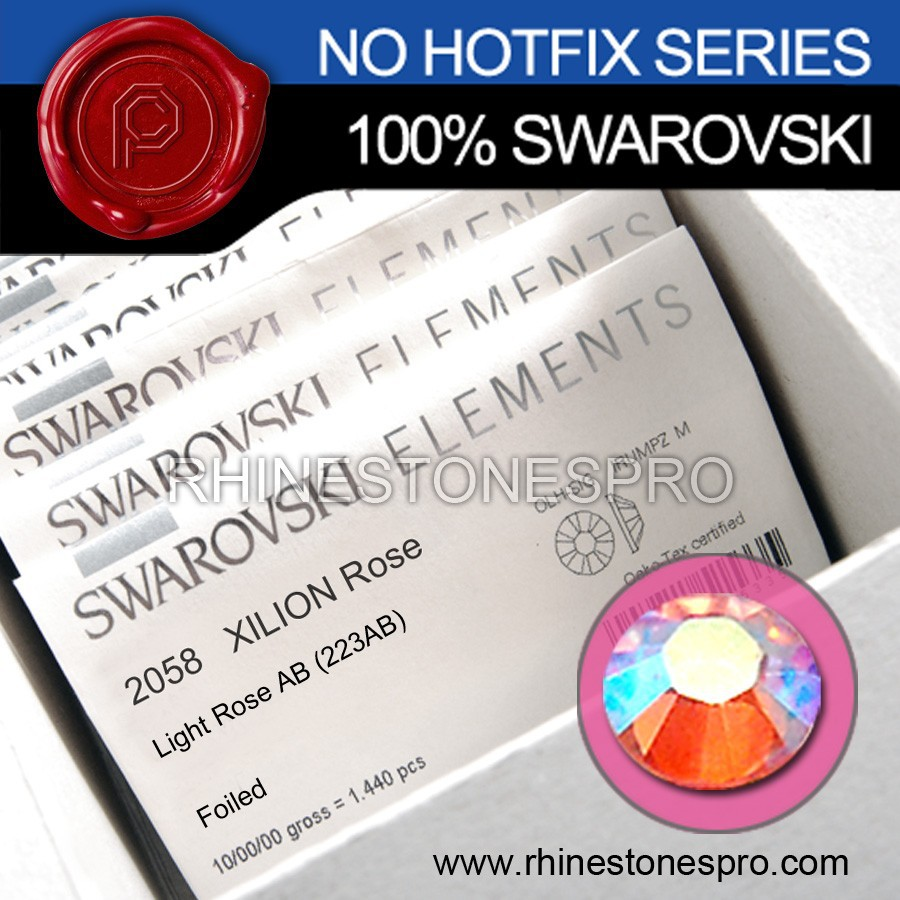 Genuine Swarovski Elements AB Light Rose (223AB) 9ss Flat Back Crystal No Hotfix Rhinestone