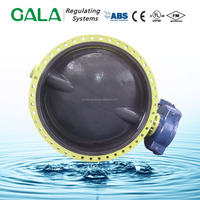 Butterfly Valve Halar Painted Valve For Drinking Water
