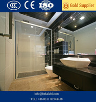 clear and color tempered glass door with high quality