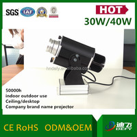 led light source 30w gobo projector for brand name logo image
