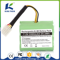 7.2V Ni-Mh Rechargeable Ni-Cd Sc 12V 2000 Nimh Battery Pack Aa 800Mah for vacuum cleaner